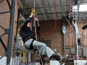 Kass at climbing workshop